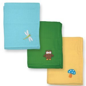 Sprouts Square Muslin Cloths 3 pack