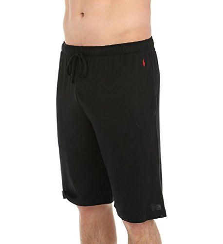 (Polo Ralph Lauren Men's Supreme Comfort Knit Sleep Shorts Polo Black Medium)