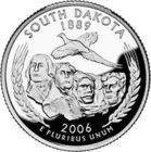 Dakota State Quarter Coin - 2006-S Clad Proof South Dakota quarter