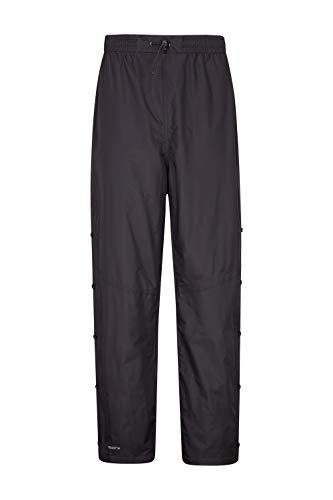 Mountain Warehouse Downpour Mens Trousers - Waterproof Rain Pants Black Large ()