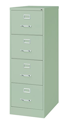 (Pro Series Four Drawer Legal Vertical File Cabinet, Light Gray, 26.5 inches deep)