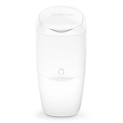 Angelcare Essential Nappy Bin + 1 Refill – Anti-Odour and Anti-Germ Guarantee – High Capacity – Ergonomic Design – Simple Use – White