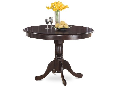 East West Furniture HLT-CAP-T Round Table, 42-Inch, Cappuccino Finish