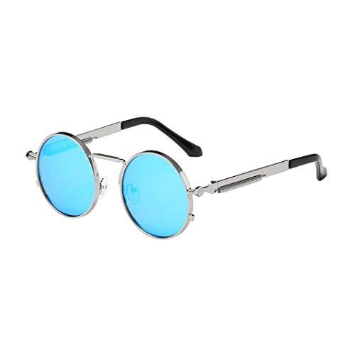 retro gafas círculo polarizadas estilo hombres y Gusspower de inspirado sol mujers redondo metálico G Steampunk para US0Swqx