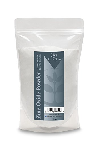 Zinc Oxide Powder - Non-Nano and Uncoated, High-Purity, Pharmaceutical Grade Zinc French Processed Powder is Perfect for Making Sunscreen, Sunblock, Home-Made Deodorant, Soap, Mineral Make Up, Baby Powder, Diaper Rash Cream, Acne Cream, etc. - Professionally Packaged in 1 lb. Quality Heat Sealed Resealable Zip Lock Pouch