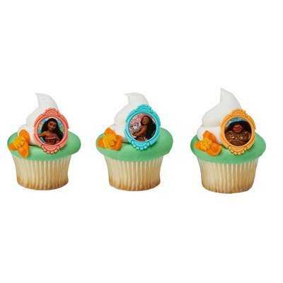 Price comparison product image Disney's Moana Licenced Cupcake Rings 24 Count