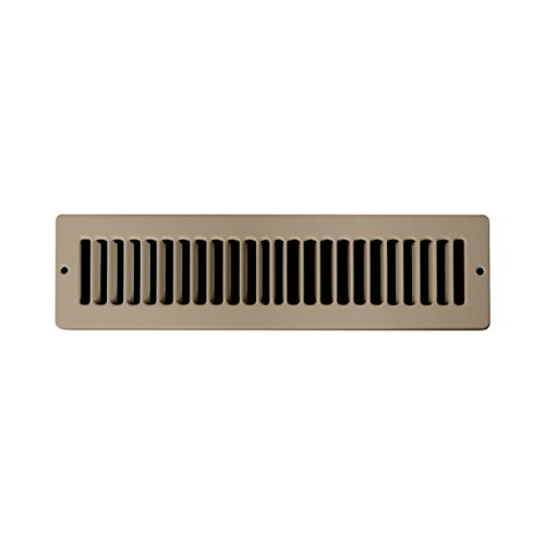 Accord ABTSBR212 Toe Space Grille with 1/2-Inch Fin Louvered, 2 x 12-Inch, Brown