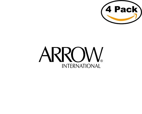Arrow International 23294 4 Stickers 4X4 Inches Car Bumper Window Sticker Decal