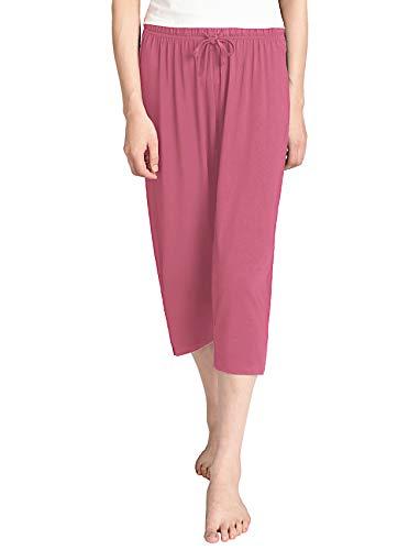 (Latuza Women's Knit Capris Sleepwear XL Brick Red)