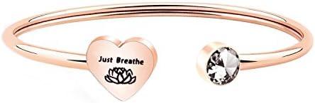 WUSUANED Breathe Bracelet Jewelry Inspirational