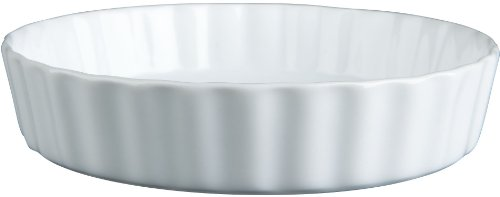 BIA Cordon Bleu - Set of 4 - 8 Ounce Individual White Porcelain Quiche or Crème Brulee Dishes - 7
