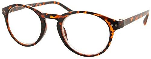 Fiore Multi Focus Progressive Reading Glasses 3 Powers in 1 [Professor - Tortoise, 2.50]