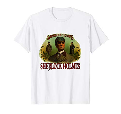 Sherlock Holmes British Consulting Detective Vintage Poster T-Shirt -