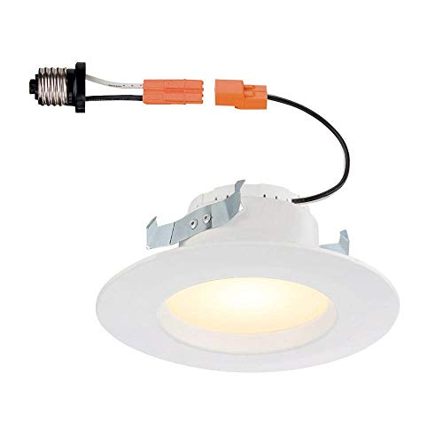 4 Pack - Commercial Electric 5 in. and 6 in. White Recessed LED Light