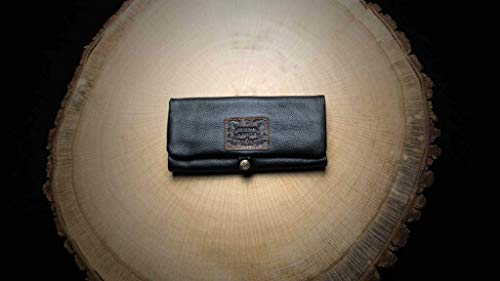 Joint Rolling Pouches,High-Quality Leather – Naturally Keeps Tobacco Moist,King-Size Paper Holder Wooden Rolling Base,Quality Craftsmanship Stylish and Sturdy (Classic) by Original Kavatza (Image #5)