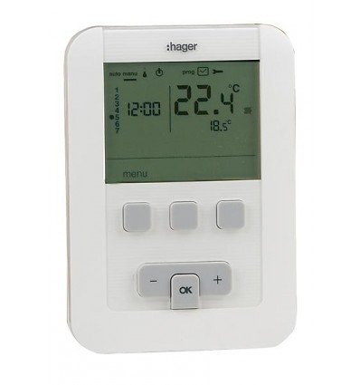Hager sas EK520 - Termostato programable (funciona con pilas ...