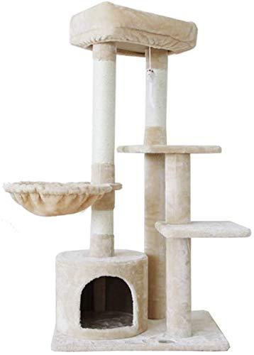 FTFDTMY Balkon Katzenmöbel, Pet Park Kratzbaum Kratzbrett Villa Sisal Einteiliger Katzenkletterrahmen…