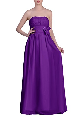 Adorona Chiffon Long Dress Women's A Lapis Line Strapless 46rx4wOa5q
