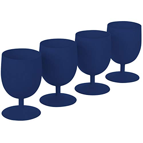Fleming Sales BW14-029SB Eco Goblet 15 Oz Blue 4 Pk