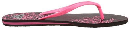 Roxy Bermuda J Sndl Bbp - Sandalias de dedo Mujer Negro - Schwarz (Black / Pink)