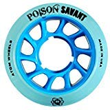 Atom Poison Savant Wheels with Bionic Bearings 8mm Full Set of 8 - Blue by Atom Skates