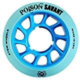 Atom Poison Savant Wheels with Bionic Bearings 8mm Full Set of 8 - Blue