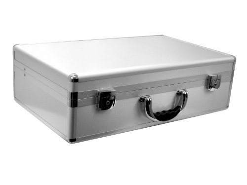 Cases By Source SV21136 Smooth Silver Aluminum Case with Foam, 20.25 x 12.375 x 5.75