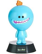 Paladone Rick and Morty Mini lampa Mr. Meeseeks svart/blå, tryckt, av plast, i presentförpackning, PP4993RM, Mr Meeseeks, 10 cm