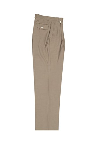 Wide Pants Leg Wool (Tiglio Luxe Taupe Wide Leg, Pure Wool Dress Pants 2576)