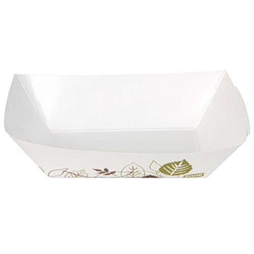 Dixie 2 Lb Polycoated Paper Food Tray by GP PRO (Georgia-Pacific), Kant Leek, Pathways,  KL200PATH, 1,000 Count (250 Trays Per Pack, 4 Packs Per Case) (Renewed)