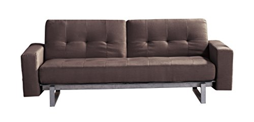 Milton Greens Stars Xavier Super Multi Function Sofa Bed Chaise, Brown