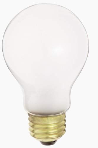 A19 Frosted Medium Base (Satco S3969 130-Volt 50-Watt A19 Medium Base Light Bulb, Frosted, 2-Pack)
