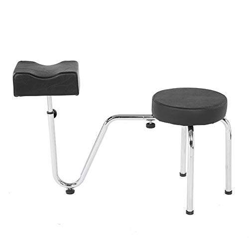 Junluck Pedicure Stool Chair,Footrest, Pedicure Foot Rest Legrest Footrest Foot Care,Adjustable PU Leather Chair Step Stool Stool Chair for Beauty Salon,Nail Shop, Spa,etc(Black)
