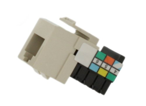 Leviton 41106-RT6 Voice Grade QuickPort Connector, Light Almond ()