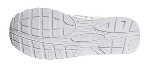 Avantage Porter Des Chaussures De Sneaker En Cuir Pour Hommes Ou Femmes Avec Fermeture Velcro Large Largeur Blanc Jogger