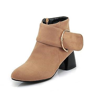 desy de mujer zapatillas Piel Sintética Otoño Invierno Botas Botas a Tobillo Botas cuadrado punta cerrada