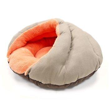 Burger Pet Bed Solid Brown / Orange by Dogo