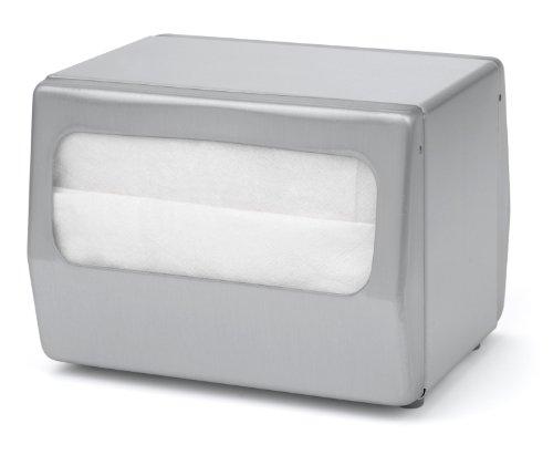 Stainless Steel Napkin Dispenser - Palmer Fixture ND0055-13 Table Top Mini Fold Napkin Dispenser