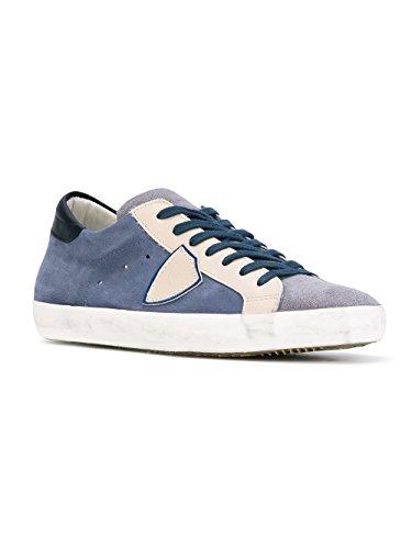 Philippe Model Sneakers Uomo CLLUXY52 Camoscio Blu