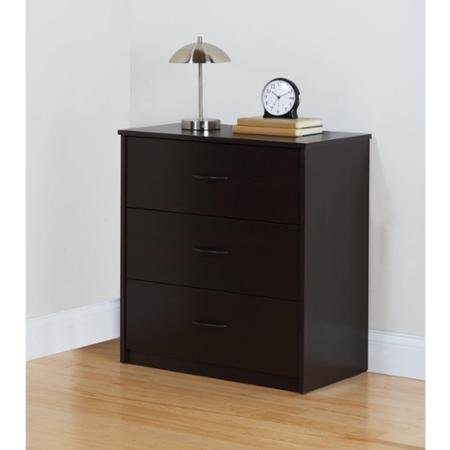 Mainstays 3-Drawer Dresser Cinnamon Cherry
