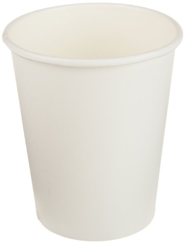Genuine Joe GJO19045PK Polyurethane-Lined Single-Wall Disposable Hot Cup, 8-Ounce Capacity, White (Pack of 50)