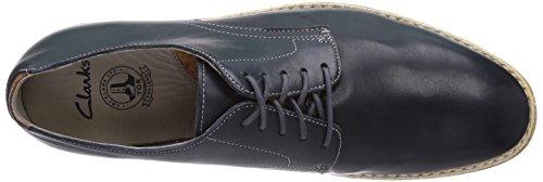 Clarks Gambeson Walk - zapatos con cordones de cuero hombre azul - Blau (Navy Leather)