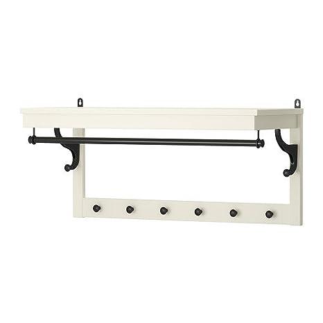 Ikea HEMNES - Sombrero Estante, Blanco - 85 cm: Amazon.es: Hogar