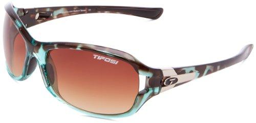 (Tifosi Women's DEA Sl Wrap, Blue Tortoise, 64mm Lens Width)