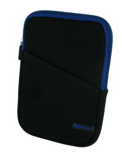 rooCASE Super Bubble Neoprene Sleeve Case Cover for Amazon Kindle 2 Wireless Reading Device (2nd Generation) (Black / Dark Blue)