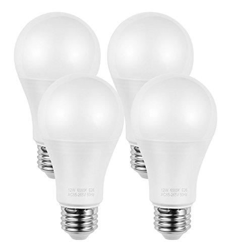 AMAZING POWER A19 E26 LED Bulb, 100W Equivalent Frosted Medium Screw Base Bulbs, Daylight White 6000K, 4-Pack