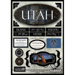 Scrapbook Customs - United States Collection - Utah - State (Vacations Cardstock Stickers)