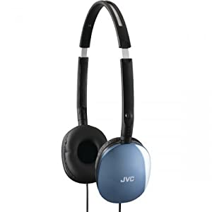 Jvc Has160a Blue Flat Foldable Headphones