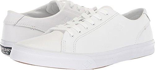 SPERRY Men's Striper II LTT Leather Sneaker White 10 Medium ()