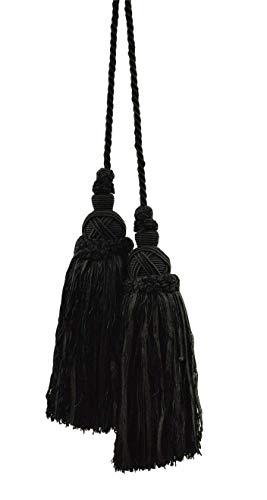 DÉCOPRO Lovely Black Double Tassel/Chair Tie / 8